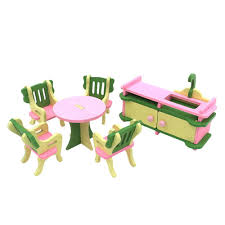 dolls furniture set. Miniature Wooden Furniture Set DollHouse Dolls