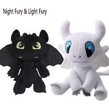 Us 8 88 26 Off 2019 Dragon 3 Plush Toy Night Fury Light Fury Toothless Soft Stuffed Doll White Dragon Birthday Gift 25cm In Stuffed Plush Animals