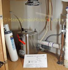 Water Filtration Dispenser How To Install An Instant Hot Water Dispenser Faucet And Water