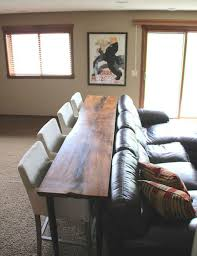 Interior Design: Wooden Table And Stools Behind The Couch - Small Space  Ideas