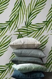 Groene Palm Leaves Verwisselbare Behang Tijdelijke Behang Etsy