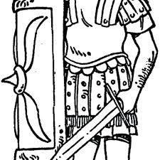 Roman Soldier Coloring Page Coloring Trend Thumbnail Size Roman