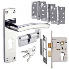 toledo door handle set euro lock door pack polished chrome