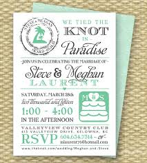 21 beautiful at home wedding reception invitations wedding The Knot Wedding Envelope Etiquette destination wedding invitation post destination wedding reception invitation tied the knot in paradise beach wedding invite, any colors Stuffing Wedding Envelopes Etiquette