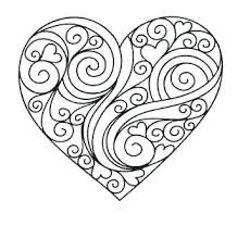 Hearts Coloring Pages Free Coloring Pages Valentine Day Heart