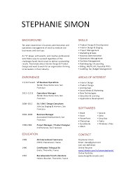 Stephanie Simon Short Resume