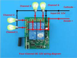 dc12v 4 channel relay rf wireless 4 channel remote control switch relay wireless 4 315mhz chiosz robots 5