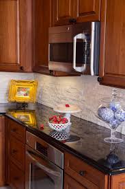 kitchen backsplash cherry cabinets black counter. Photo Of Contemplated Spaces - Germantown, MD, United States. Under-counter Oven Kitchen Backsplash Cherry Cabinets Black Counter S