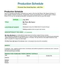 Editable Production Timeline Template Sample Advertising Schedule ...