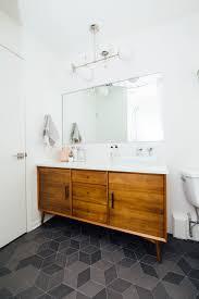 HelloRefuge   MAIN BATHROOM RENO / Mutina Text Tiles / West Elm Vanity /  Dutton Brown Lighting