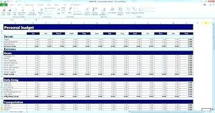 Personal Finance Budget Worksheets Personal Expense Budget Template