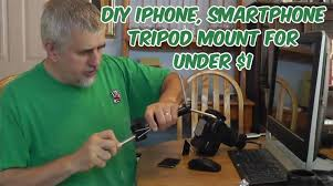 diy iphone smartphone tripod mount for under 1