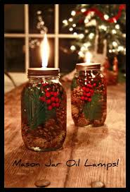 oil lamp made from mason jars