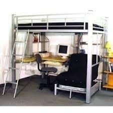 Loft bed with desk underneath 4