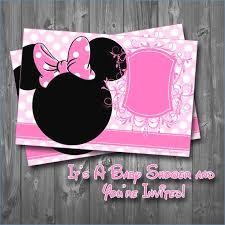 minnie mouse baby shower invitations diabetesmangfo