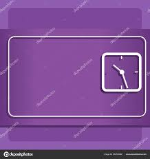 Corporate Backdrop Design Ideas Square Outline Of Analog Clock On Two Tone Pastel Backdrop