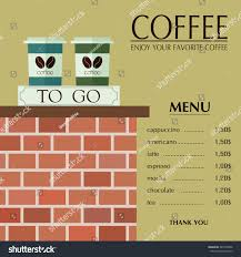 To Go Menu Templates Coffee Shop Menu Template Paper Cups Stock Vector Royalty Free