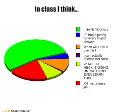 Stupid Pie Charts Class College Dumb I Hate You All Pie Chart School