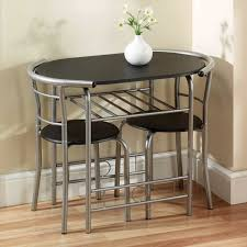 Dining Tables, Awesome Black Oval Modern Iron Compact Dining Table  Varnished Design: New compact ...