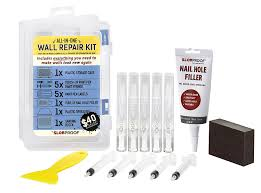 slobproof wall repair patch kit touch up paint pens that fill with any paint for color matched touch ups to scuffed walls plus putty knife