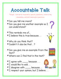 Accountable Talk Anchor Chart Accountable Talk Anchor Chart Classroom Discussions Bookmarks