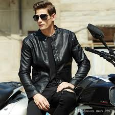 2018 new autumn winter style leather jacket coats men high quality mens pu leather jacket luxury brand 2017 fashion male motorcycle jackets mc005 from
