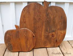 Rustic Furniture Stain Rustic Wooden Pumpkin This Makes That