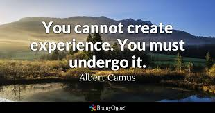 Albert Camus Quotes Cool You Cannot Create Experience You Must Undergo It Albert Camus