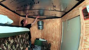new 6x10 enclosed trailer conversion project insulating