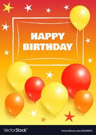 Balloon Birthday Card Design Happy Birthday Background Invitation Card Balloons