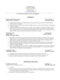 infantry resume