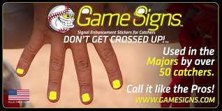 3 Game Signs Baseball Catcher Baseball Catcher Signals