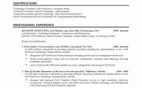 Sap Basis Fresher Resume Format New Sap Basis Performance Tuning