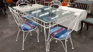 white iron outdoor furniture. Delighful Outdoor White Wrought Iron Patio Set  Main Street Furniture Outlet For Outdoor
