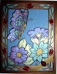 Glass Painting Design Images For Home Decoration