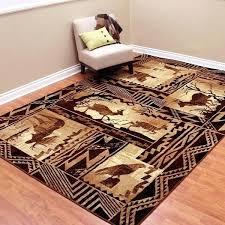 deer area rugs deer area rugs lodge design moose deer and duck tan area rug area