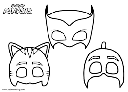 Masks Of Pj Masks Catboy Coloring Pages Free Printable Coloring Pages