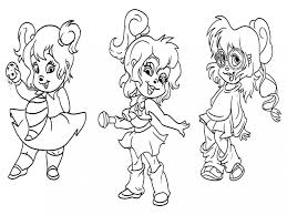 Alvin And The Chipmunks Coloring Pages Books 100 Free And