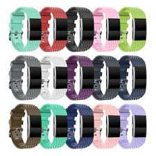 <b>Youth 3D Texture</b> Silicone Strap For Fitbit Charge 2 Smart Watch ...
