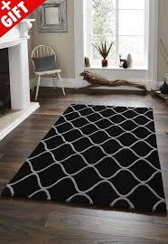 elements el 65 hand made rugs in black