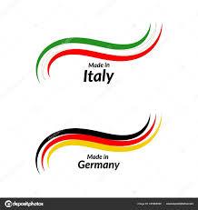 Italian Logos Simple Logos Made Italy Made Germany Vector Logos Italian