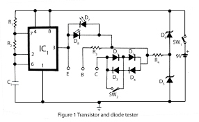 transistor and diode tester electronics project transistor wiring diagram at Transistor Wiring Diagram