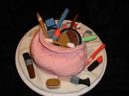 the makeup bag cake