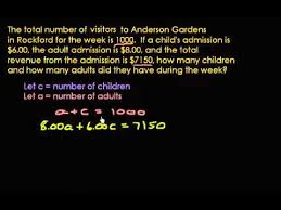 word problem using the addition and