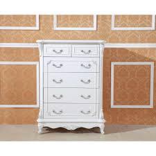 White Antique Tallboy Dresser Chest Of  Drawers Buy Bedroom - Bedroom tallboy furniture