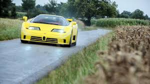 The bugatti eb 110 was named after the 110th birthday of ettore bugatti. The Only Yellow Bugatti Eb110 Ss With Red Interior Is For Sale