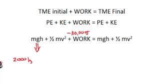 potential energy kinetic energy work clear simple