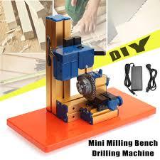 100v 240v 24w mini diy lathe milling bench drill machine woodworking drilling