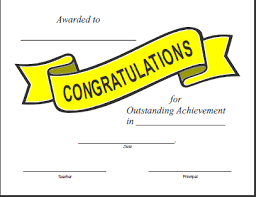 Free Printable Congratulations Certificate Template