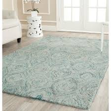 safavieh ikat ivory sea blue 6 ft x 9 ft area rug